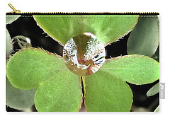 Jeweled Clover Carry-all Pouch by Lorella Schoales