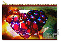 Carry-all Pouch featuring the painting Jeweled Heart In Light And Dark by Genevieve Esson