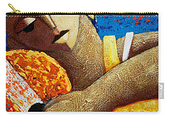 Carry-all Pouch featuring the painting Jibara Y Sol by Oscar Ortiz