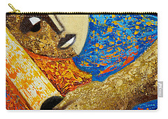 Carry-all Pouch featuring the painting Jibaro Y Sol by Oscar Ortiz