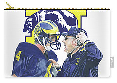 Jim Harbaugh And Bo Schembechler Carry-all Pouch