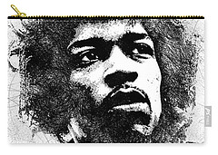 Jimi Hendrix Bw Portrait Carry-all Pouch