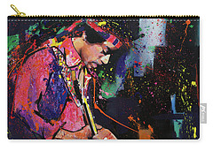 Jimi Hendrix II Carry-all Pouch by Richard Day