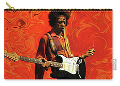 Carry-all Pouch featuring the photograph Jimi Hendrix Purple Haze Orange by David Dehner