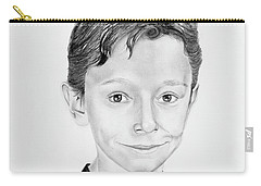 Carry-all Pouch featuring the drawing Jimmy by Mayhem Mediums