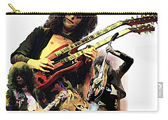 Jimmy Page  Echoes Of Pompeii Carry-all Pouch by Iconic Images Art Gallery David Pucciarelli