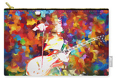Jimmy Page Jamming Carry-all Pouch by Dan Sproul