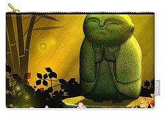 Carry-all Pouch featuring the digital art Jizo Bodhisattva by John Wills