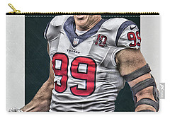 Jj Watt Houston Texans Art 1 Carry-all Pouch
