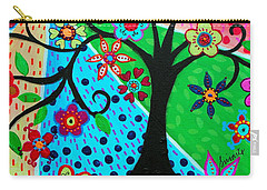 Carry-all Pouch featuring the painting Jodi's Tree Of Life by Pristine Cartera Turkus