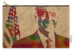 Joe Biden Watercolor Portrait Carry-all Pouch by Design Turnpike