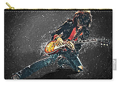 Joe Perry Carry-all Pouch by Taylan Apukovska