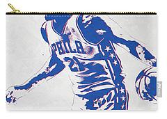Joel Embiid Philadelphia Sixers Pixel Art Carry-all Pouch