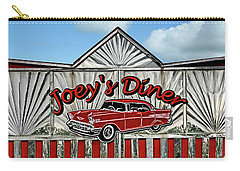 Carry-all Pouch featuring the photograph Joey's Diner Sign by Betty Denise