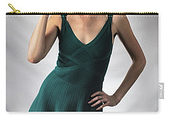 Johanne In Green Carry-all Pouch