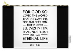 John 3-16 - Spiritual Wall Art - Bible Verses Art Carry-all Pouch