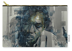 Carry-all Pouch featuring the mixed media John Coltrane  by Paul Lovering