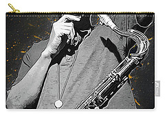 John Coltrane Carry-all Pouch by Semih Yurdabak