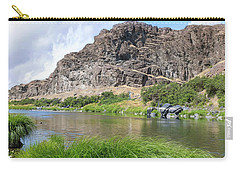 John Day River Landscape In Summer Portrait Carry-all Pouch