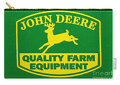John Deere Farm Equipment Sign Carry-all Pouch by Randy Steele