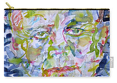 Carry-all Pouch featuring the painting John F. Kennedy - Watercolor Portrait.2 by Fabrizio Cassetta
