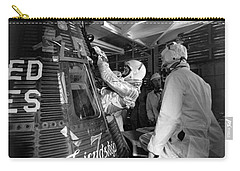 John Glenn Entering Friendship 7 Spacecraft Carry-all Pouch by War Is Hell Store