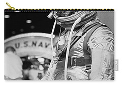 John Glenn Wearing A Space Suit Carry-all Pouch by War Is Hell Store