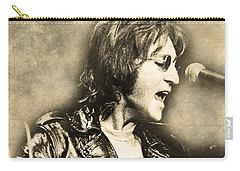 Carry-all Pouch featuring the digital art John Lennon by Anthony Murphy