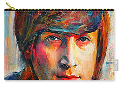 John Lennon Young Portrait Carry-all Pouch