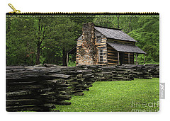Carry-all Pouch featuring the photograph John Oliver Cabin by Andrea Silies