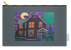 Carry-all Pouch featuring the painting John Wells Home. by Jonathon Hansen