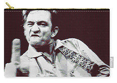 Johnny Cash Beer Cap Mosiac Carry-all Pouch by Dan Sproul