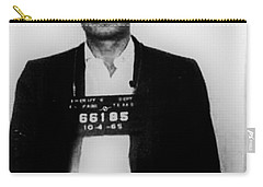 Johnny Cash Mug Shot Vertical Carry-all Pouch by Tony Rubino