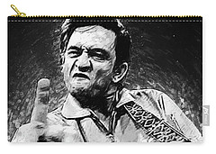 Johnny Cash Carry-all Pouch by Taylan Apukovska