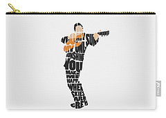 Johnny Cash Typography Art Carry-all Pouch