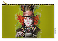 Johnny Depp As Mad Hatter Carry-all Pouch