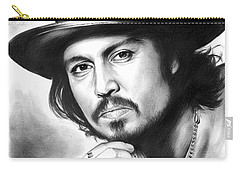 Johnny Depp Carry-all Pouch by Greg Joens