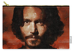 Johnny Depp, Hollywood Legend By Mary Bassett Carry-all Pouch by Mary Bassett
