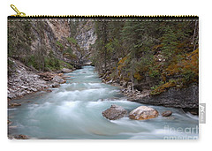 Carry-all Pouch featuring the photograph Johnston Canyon In Banff National Park by RicardMN Photography