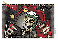 Joker Poker Skull Carry-all Pouch