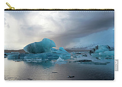 Carry-all Pouch featuring the photograph Jokulsarlon, The Glacier Lagoon, Iceland 4 by Dubi Roman