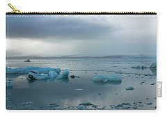 Carry-all Pouch featuring the photograph Jokulsarlon, The Glacier Lagoon, Iceland 1 by Dubi Roman