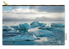 Carry-all Pouch featuring the photograph Jokulsarlon, The Glacier Lagoon, Iceland 6 by Dubi Roman