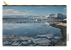Carry-all Pouch featuring the photograph Jokulsarlon Ice Lagoon - Iceland by Sandra Bronstein