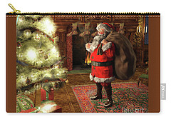 Carry-all Pouch featuring the painting Jolly Old Saint Nicholas II by Dave Luebbert