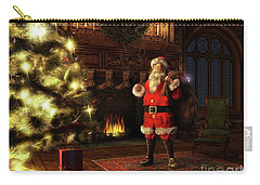 Carry-all Pouch featuring the painting Jolly Old St. Nicholas by Dave Luebbert