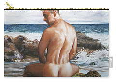 Jon At The Beach  Carry-all Pouch