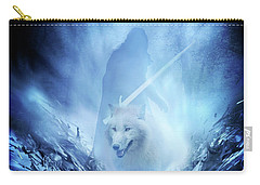 Jon Snow And Ghost - Game Of Thrones Carry-all Pouch