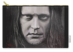 Carry-all Pouch featuring the drawing Jonas P Renkse Musician From Katatonia Band By Julia Art by Julia Art