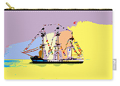Carry-all Pouch featuring the painting Jose Gasparilla Sailing Colorful Tampa Bay by David Lee Thompson